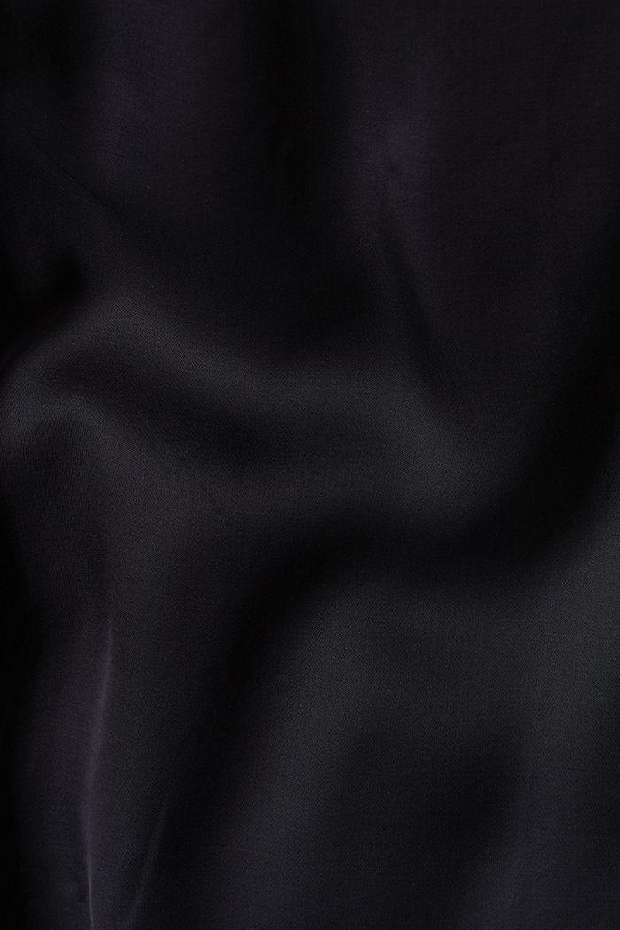 Satin-Kleid aus LENZING™ ECOVERO™, BLACK, detail image number 4