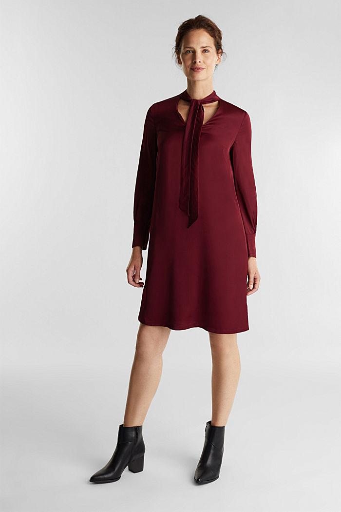 Satin dress made of LENZING™ ECOVERO™