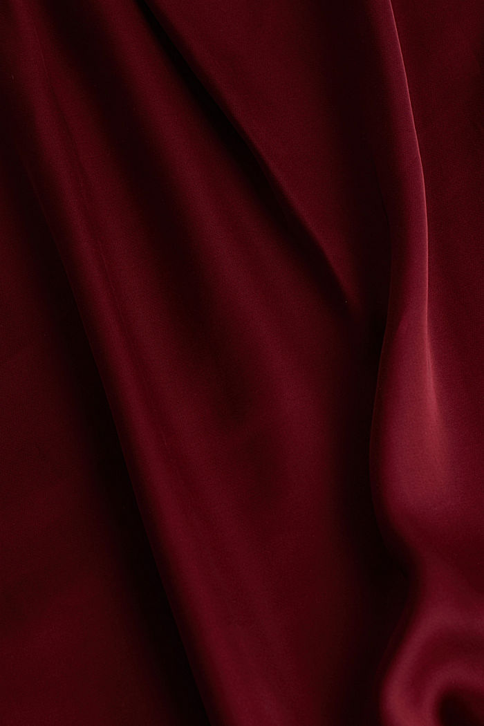 Satin dress made of LENZING™ ECOVERO™, BORDEAUX RED, detail image number 3