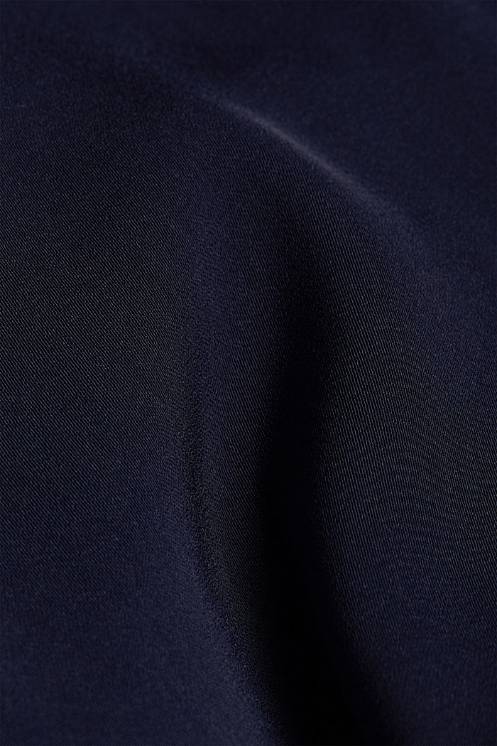 Recycled: dress with an asymmetric hem, NAVY, detail image number 4