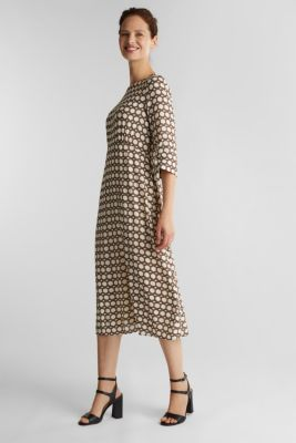 Midi dress with chain print, SAND 4, detail