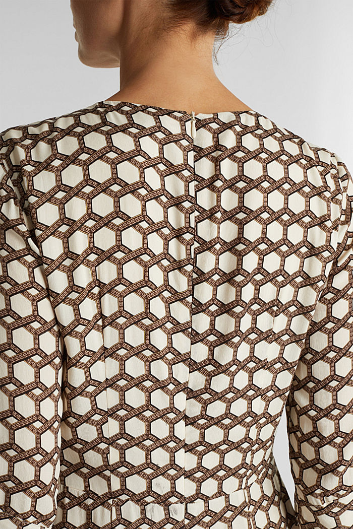 Midi dress with chain print, SAND, detail image number 3