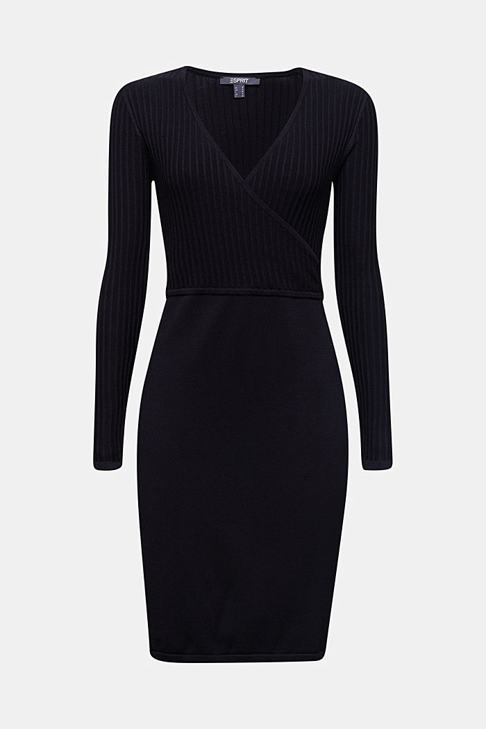 Knit dress with LENZING™ ECOVERO™, BLACK, detail image number 6