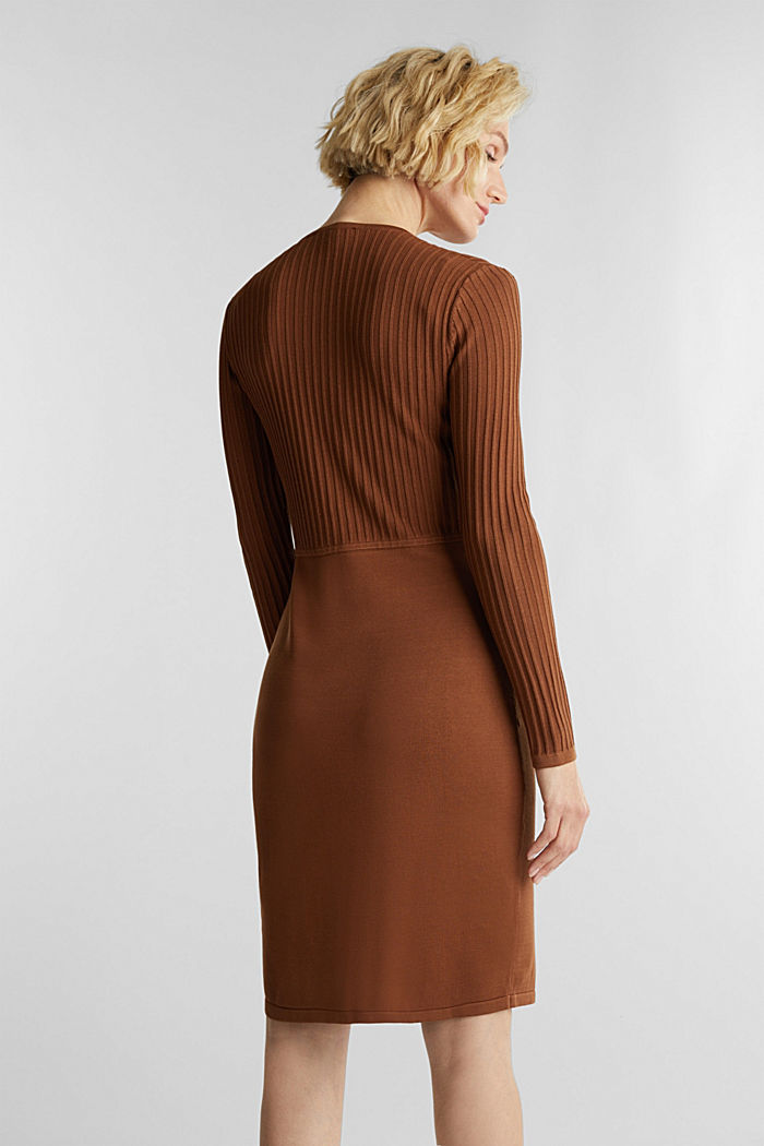Knit dress with LENZING™ ECOVERO™, TOFFEE, detail image number 2