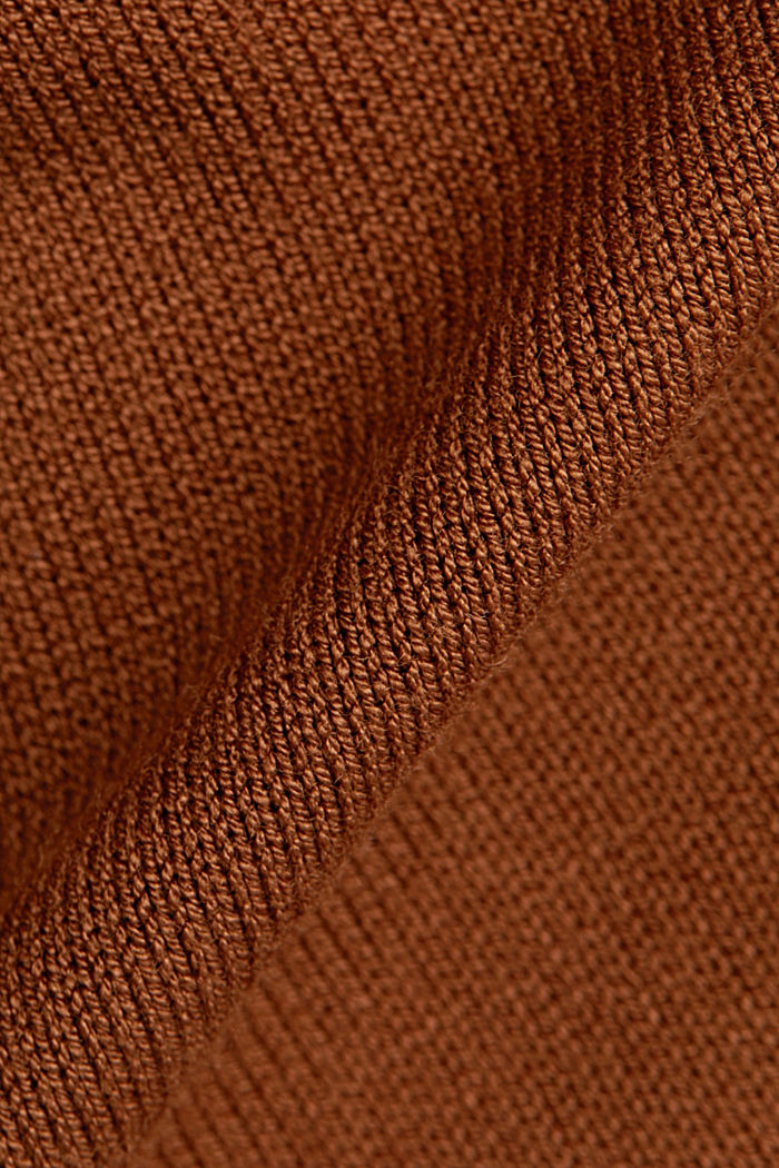 Knit dress with LENZING™ ECOVERO™, TOFFEE, detail image number 4
