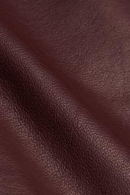 Lamb leather sheath dress, BORDEAUX RED, detail