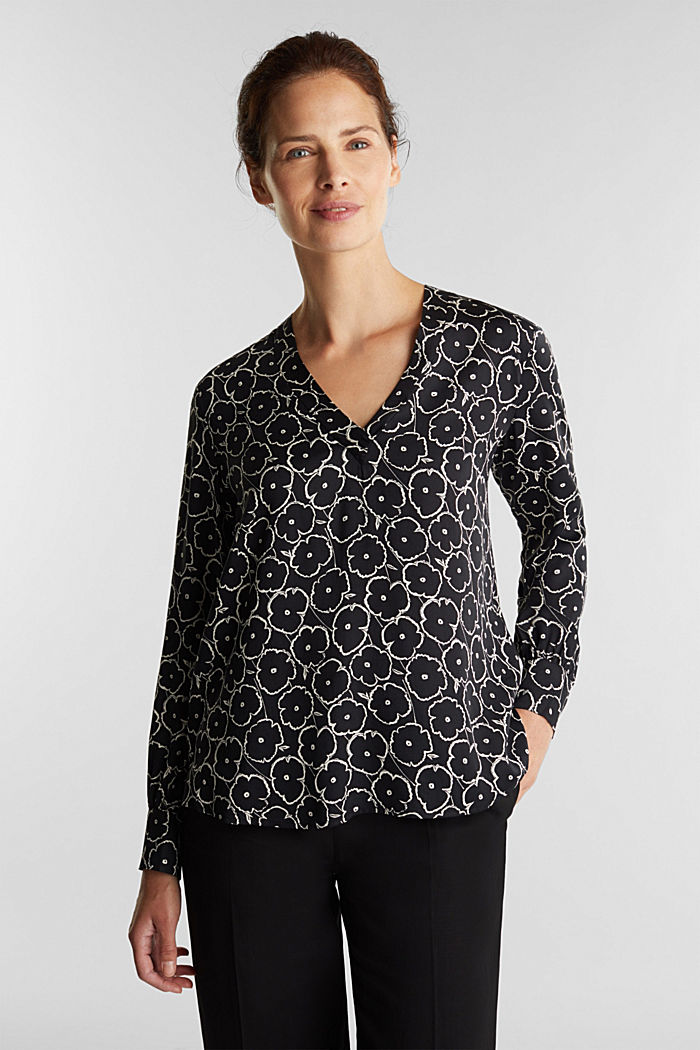 Print blouse made of LENZING™ ECOVERO™
