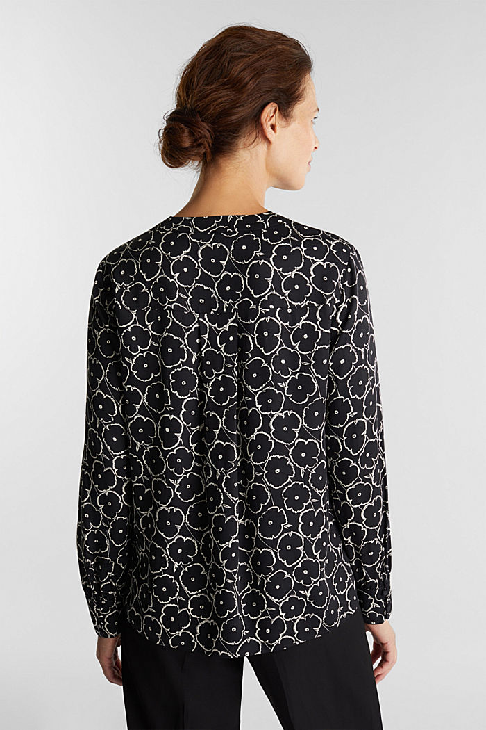 Print blouse made of LENZING™ ECOVERO™, BLACK, detail image number 2