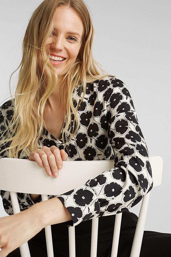 Printed blouse van LENZING™ECOVERO™