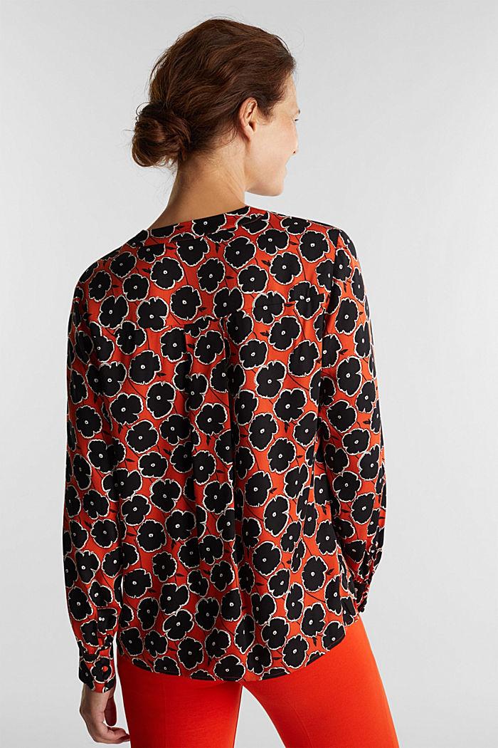 Print blouse made of LENZING™ ECOVERO™, ORANGE, detail image number 3