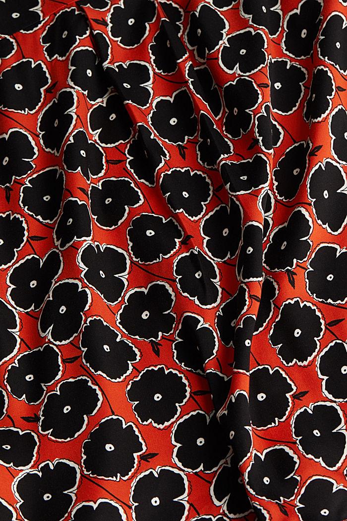 Print blouse made of LENZING™ ECOVERO™, ORANGE, detail image number 4