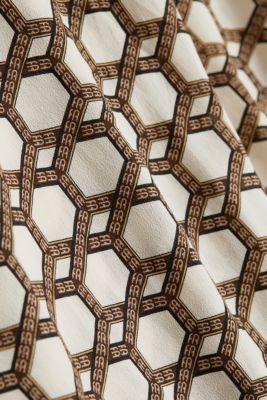 Crêpe blouse with a chain print, SAND, detail
