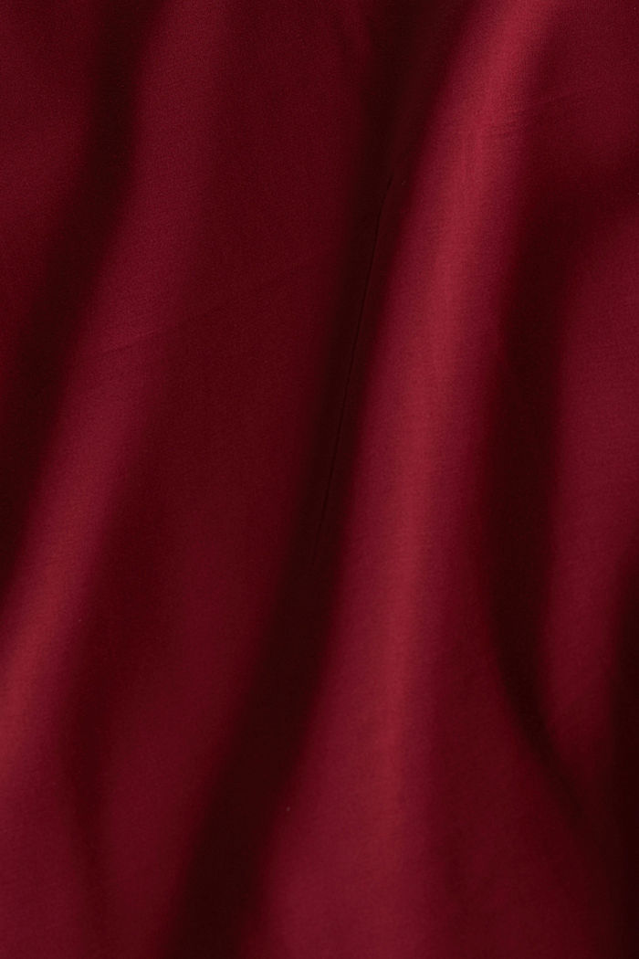 Satin blouse made of LENZING™ ECOVERO™, BORDEAUX RED, detail image number 4