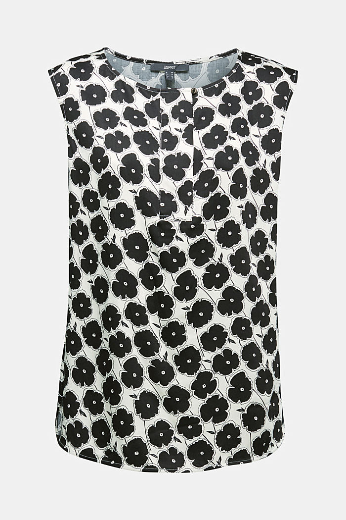 Print blouse top made of LENZING™ ECOVERO™, OFF WHITE, detail image number 6
