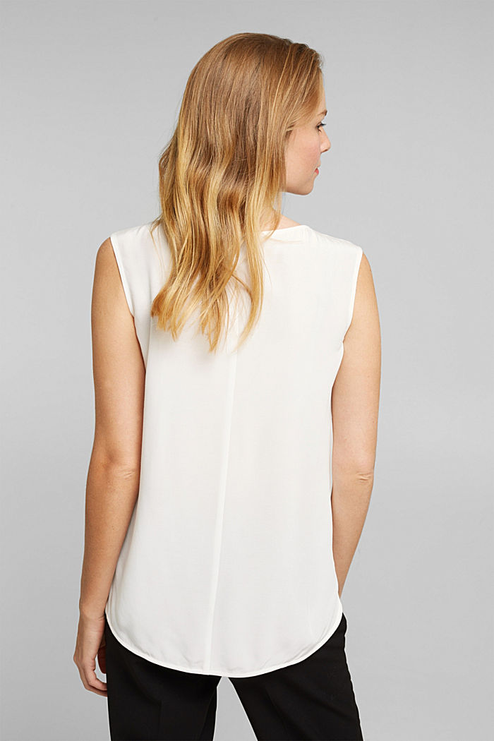 Blouse top made of LENZING™ ECOVERO™, OFF WHITE, detail image number 3