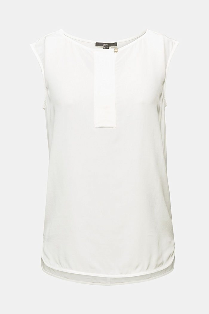 Blouse top made of LENZING™ ECOVERO™, OFF WHITE, detail image number 5