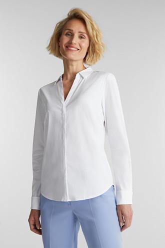 Stretch cotton shirt blouse
