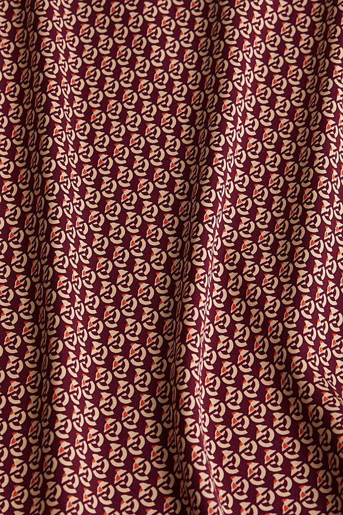 Print blouse with LENZING™ ECOVERO™, GARNET RED, detail image number 4