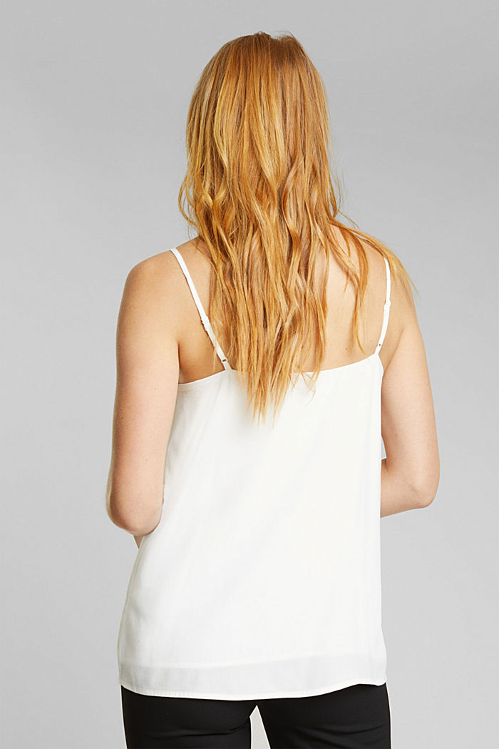 Spaghetti strap top with lace, OFF WHITE, detail image number 3