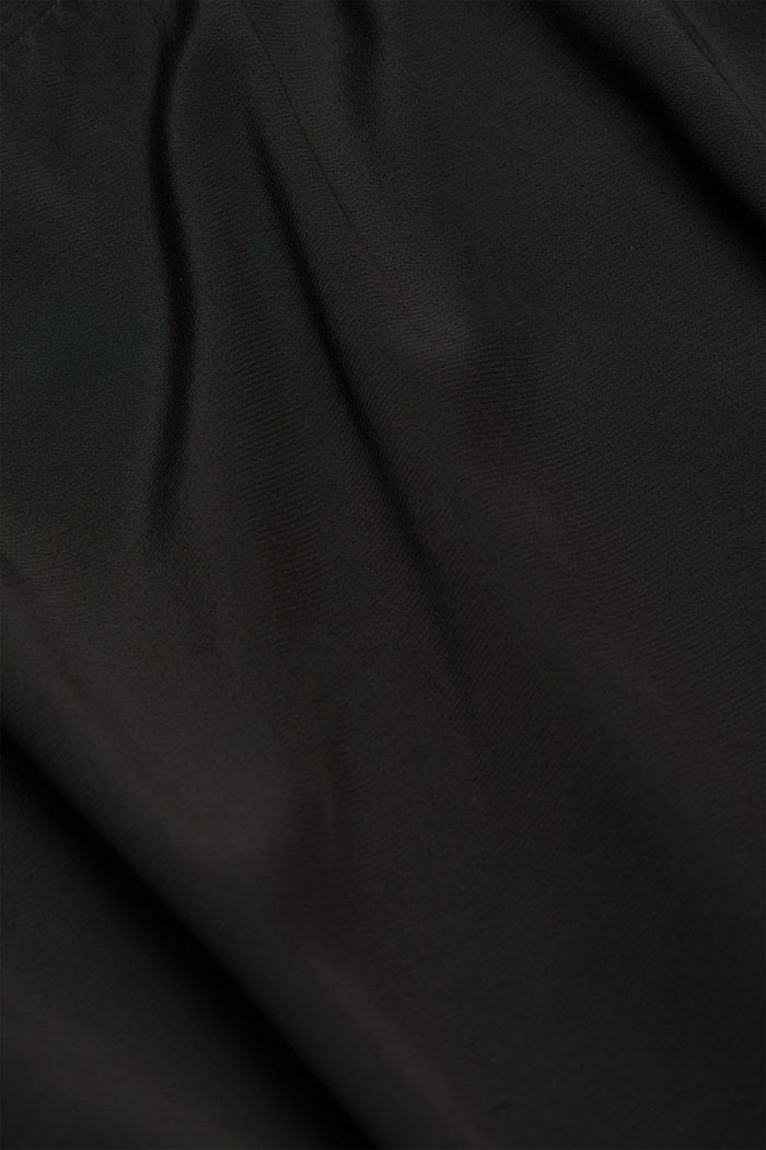 Batwing blouse made of LENZING™ ECOVERO™, BLACK, detail image number 4