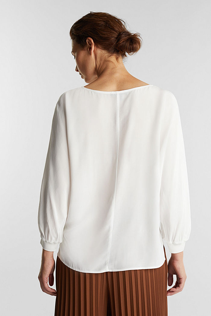Batwing blouse made of LENZING™ ECOVERO™, OFF WHITE, detail image number 3