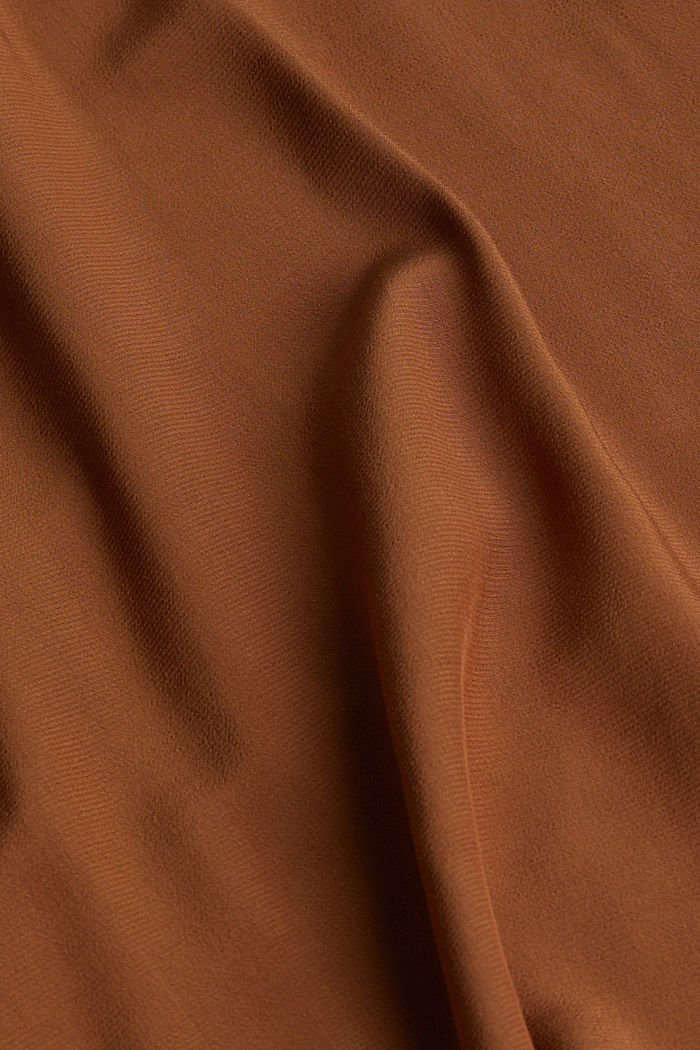 Batwing blouse made of LENZING™ ECOVERO™, TOFFEE, detail image number 3