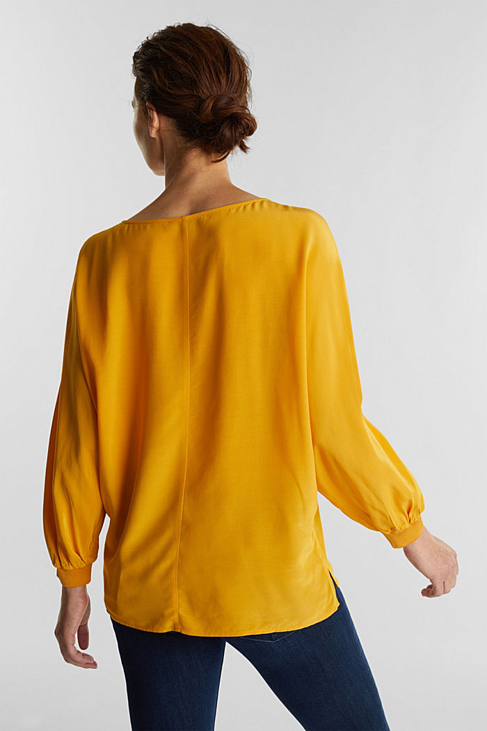 Batwing blouse made of LENZING™ ECOVERO™, HONEY YELLOW, detail image number 3