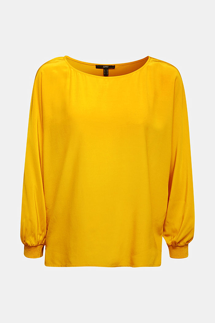 Batwing blouse made of LENZING™ ECOVERO™, HONEY YELLOW, detail image number 5