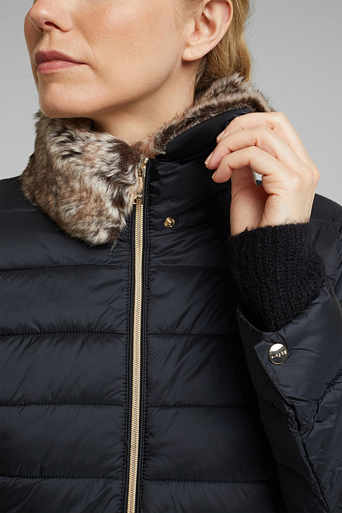 Recycled: 3M™ Thinsulate™ quilted coat, BLACK, detail image number 2