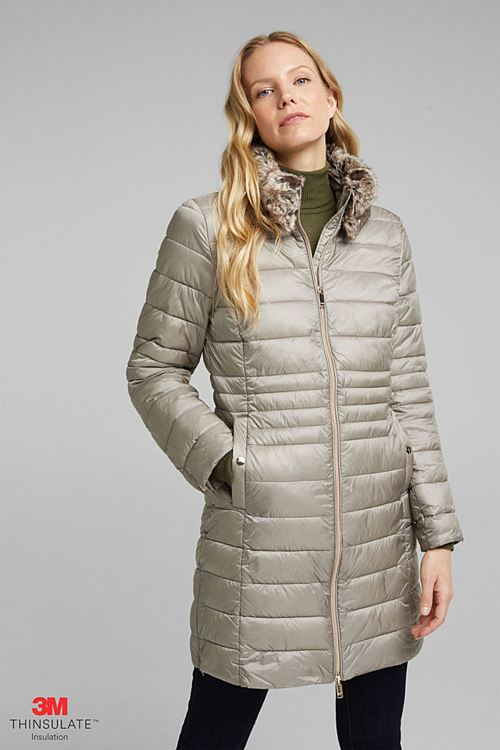 Recycled: 3M™ Thinsulate™ quilted coat, LIGHT GREY, detail image number 0