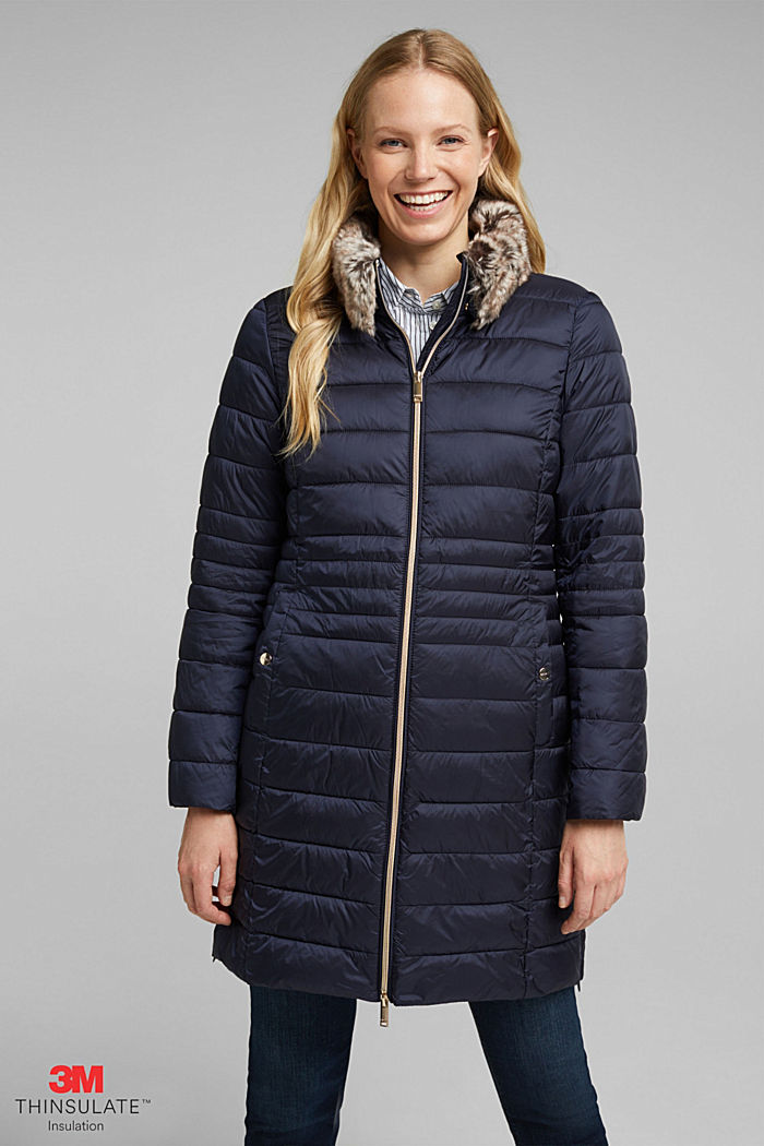 Recycled: 3M™ Thinsulate™ quilted coat, NAVY, detail image number 0