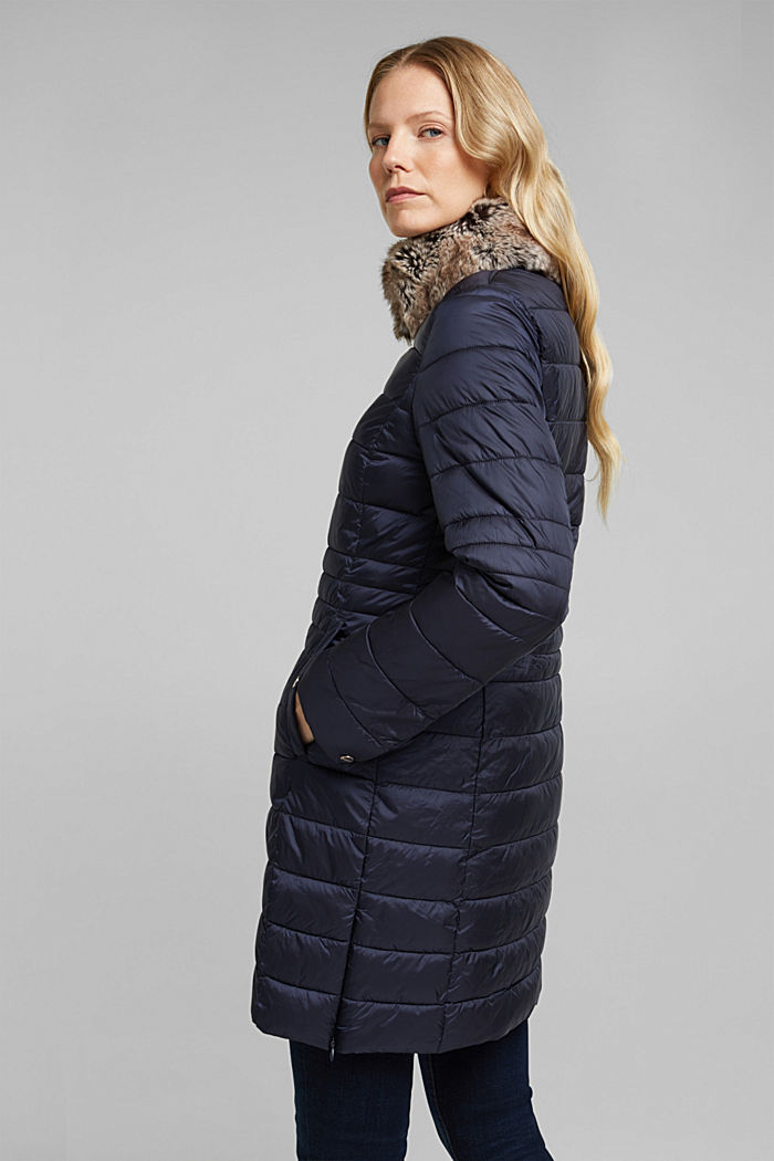 Recycled: 3M™ Thinsulate™ quilted coat, NAVY, detail image number 3