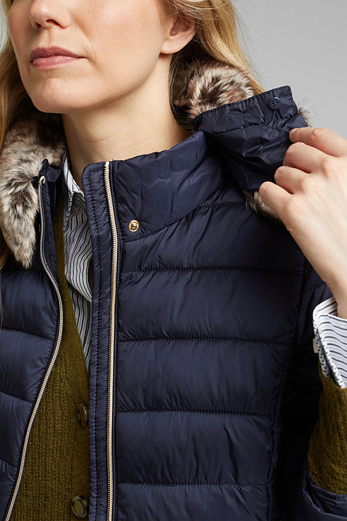 Recycled: 3M™ Thinsulate™ quilted coat, NAVY, detail image number 2