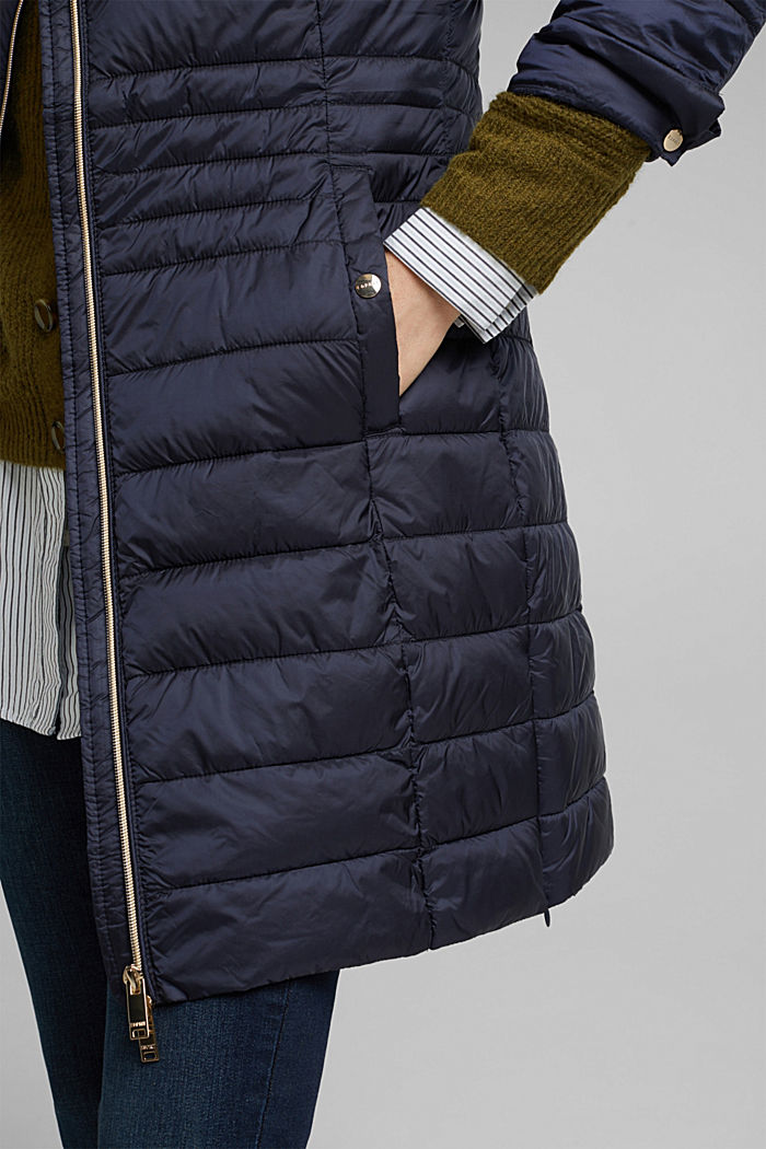 Recycled: 3M™ Thinsulate™ quilted coat, NAVY, detail image number 5