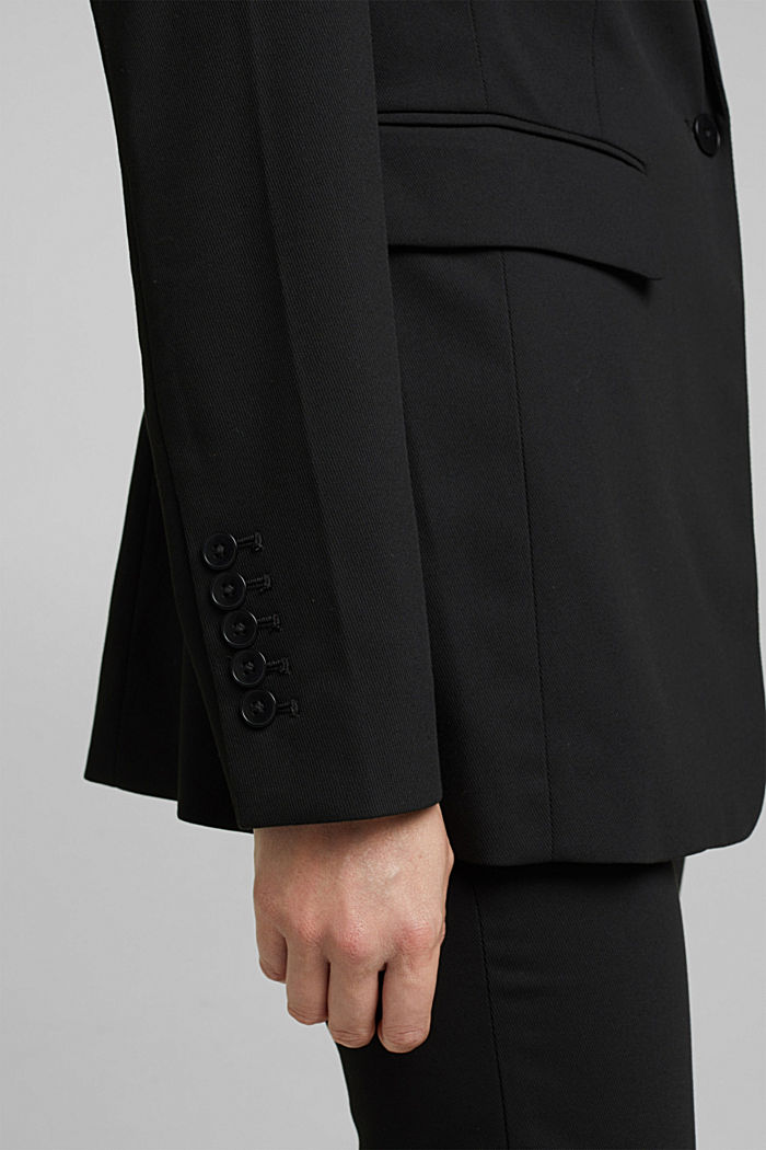 Blazer with a striped texture, BLACK, detail image number 2