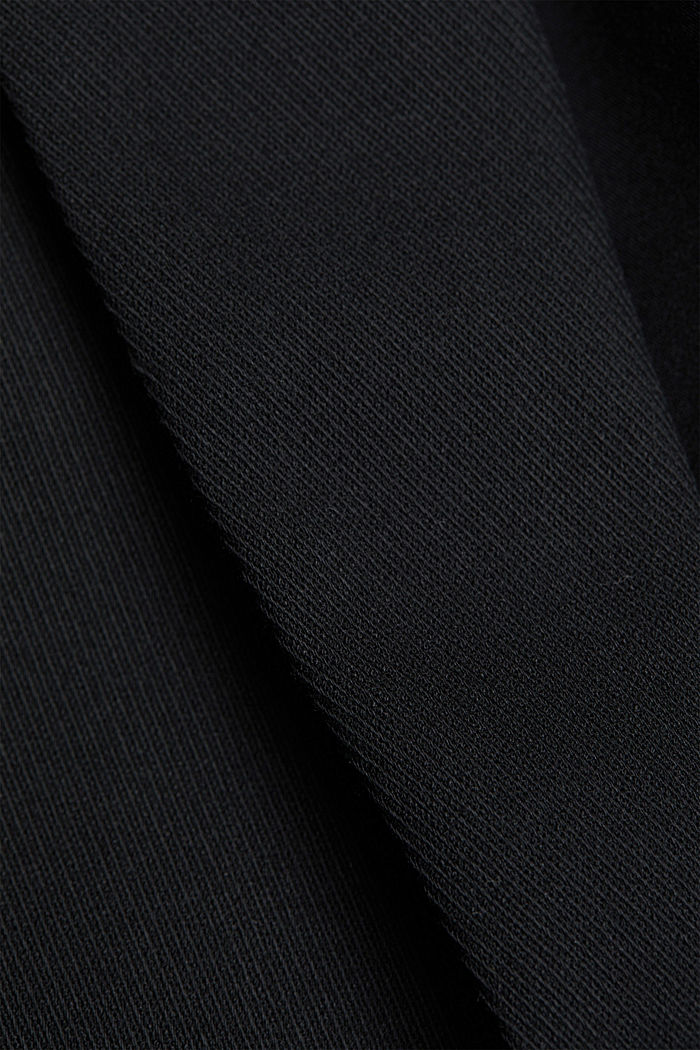 Blazer with a striped texture, BLACK, detail image number 4