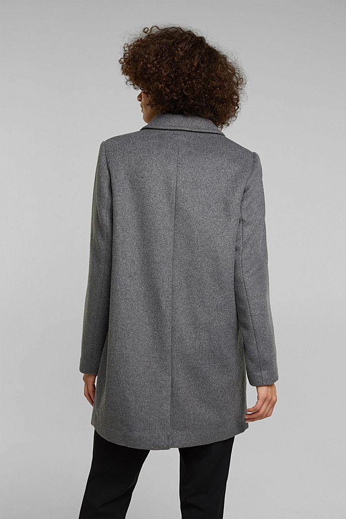 Mit Wolle: Blazer-Mantel, GUNMETAL, detail image number 3