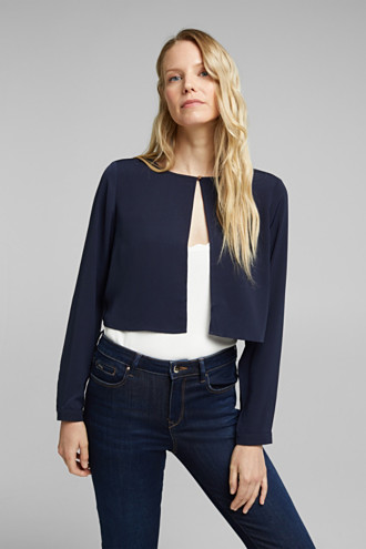 Recycled: flowing, cropped jacket