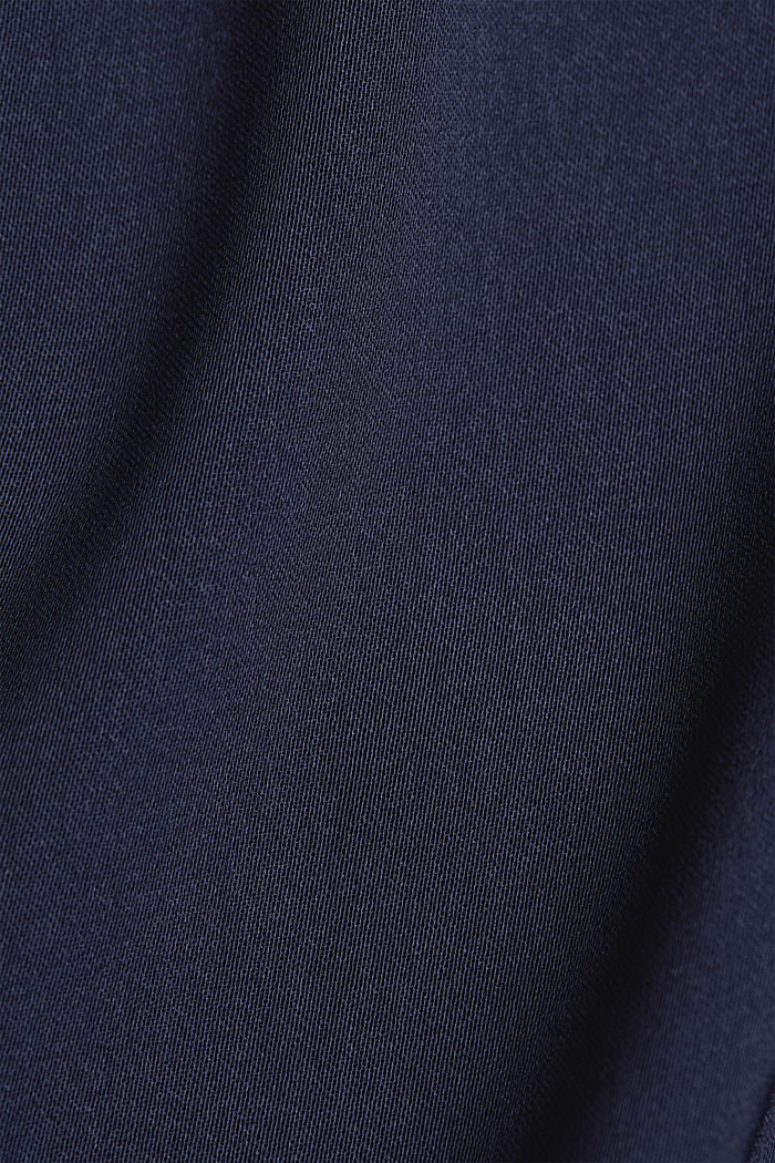 Recycled: flowing, cropped jacket, NAVY, detail image number 4