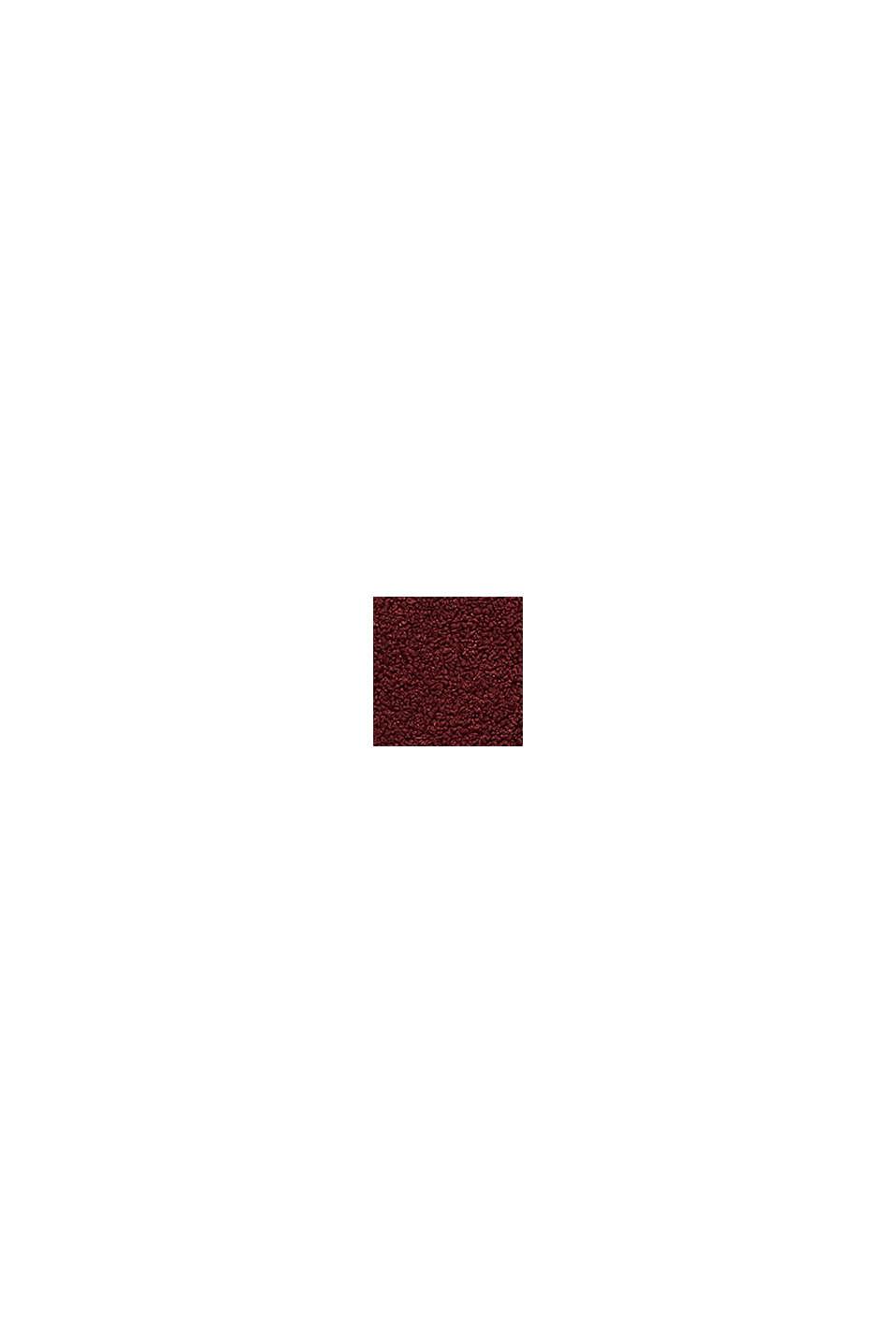Doubleface-Mantel in Teddy-Optik, BORDEAUX RED, swatch