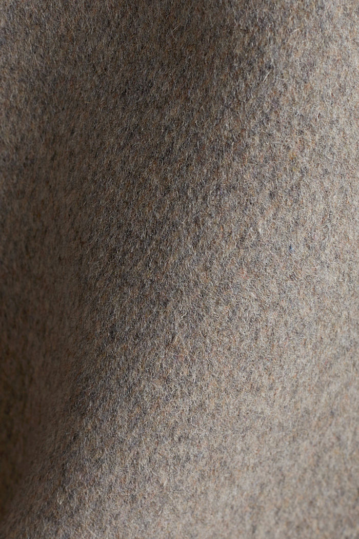 Blended wool: coat with a stand-up collar, TAUPE, detail image number 4