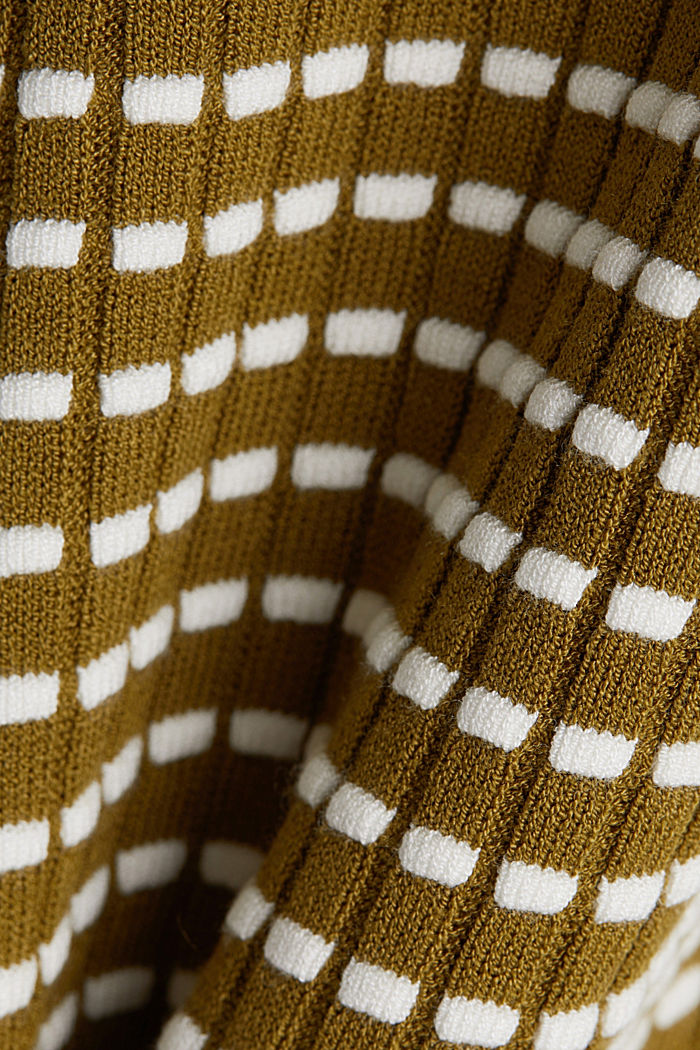 Textured jumper made of blended LENZING™ ECOVERO™, OLIVE, detail image number 4