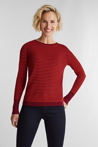 Textured jumper made of blended LENZING™ ECOVERO™