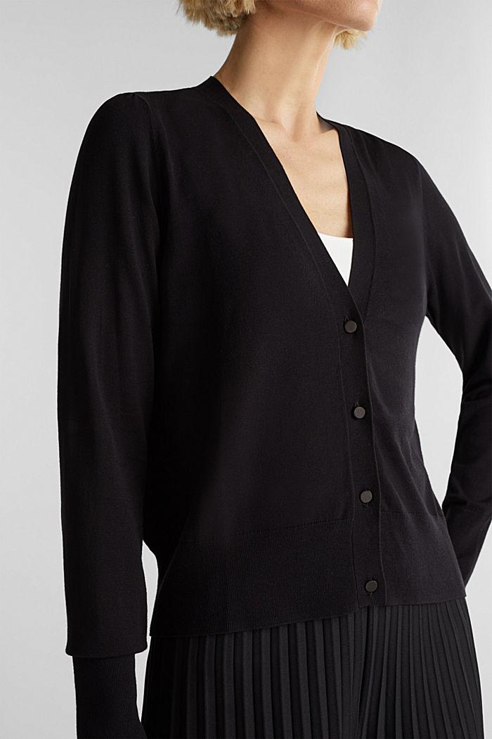 Cardigan, LENZING™ ECOVERO™, BLACK, detail image number 2