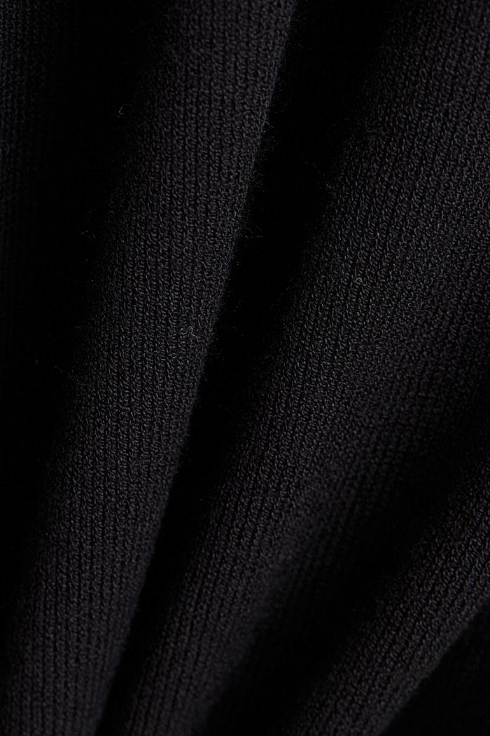 Cardigan, LENZING™ ECOVERO™, BLACK, detail image number 4