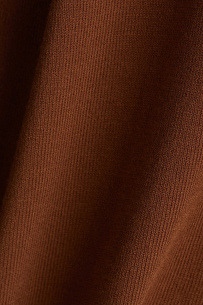 Cardigan made of LENZING™ ECOVERO™, TOFFEE, detail image number 4