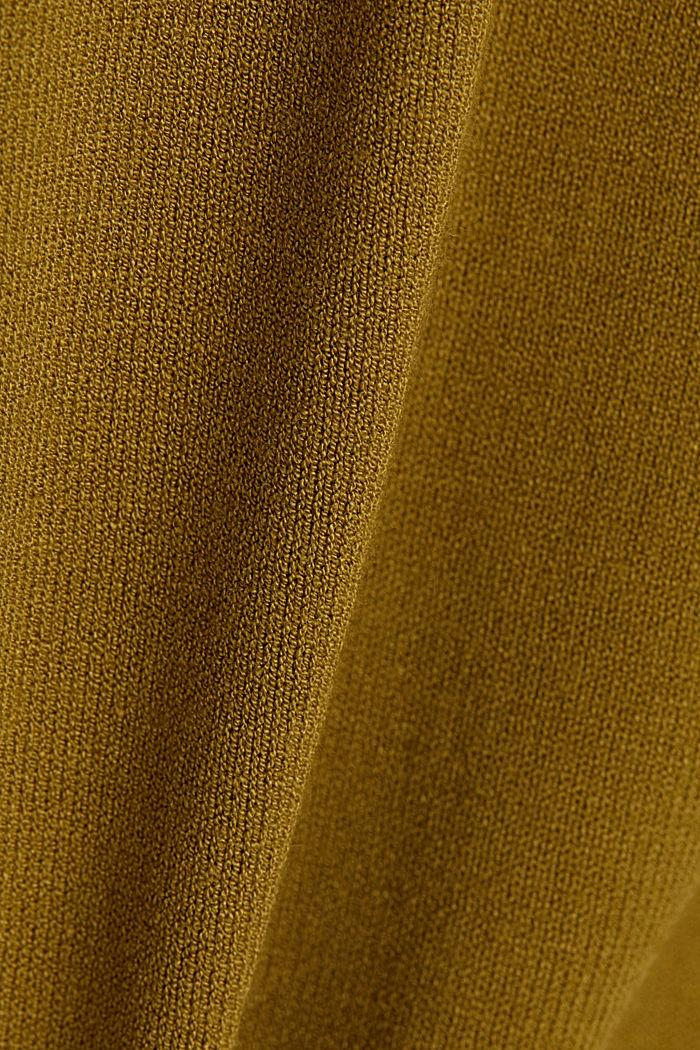 Cardigan made of LENZING™ ECOVERO™, OLIVE, detail image number 4