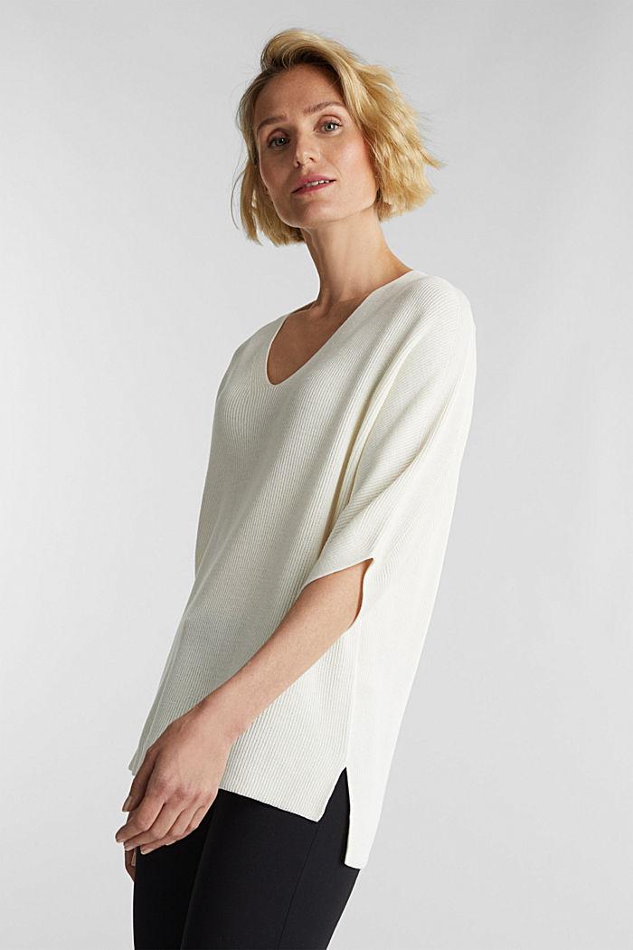 With TENCEL™: raglan jumper, OFF WHITE, detail image number 0