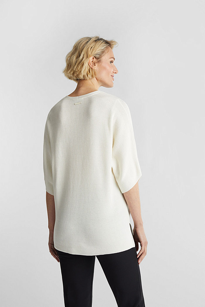 With TENCEL™: raglan jumper, OFF WHITE, detail image number 2