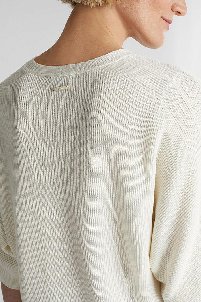 With TENCEL™: raglan jumper, OFF WHITE, detail image number 4